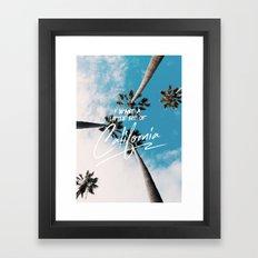 A little bit of California Framed Art Print