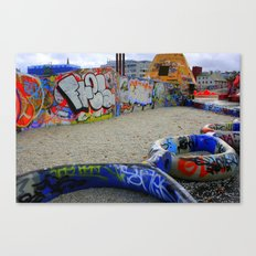 Neon Chains Canvas Print