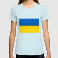 National flag of Ukraine, Authentic version (to scale and color) Womens Fitted Tee Light Blue SMALL