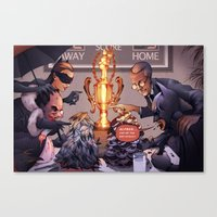 Eating Contest Canvas Print