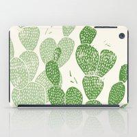 Linocut Cacti #1 iPad Case