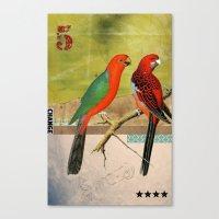 Animal Collection -- Bir… Canvas Print