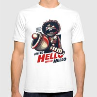 HELLO! HELLO! (white) Mens Fitted Tee White SMALL
