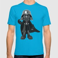 Skull Vader Mens Fitted Tee Teal SMALL