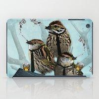 Smoking Birds Print iPad Case