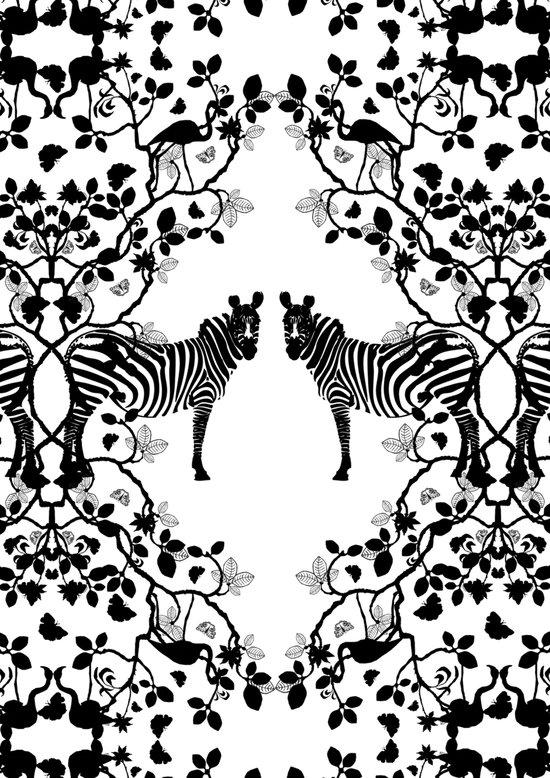 African Lace - Black & White Art Print