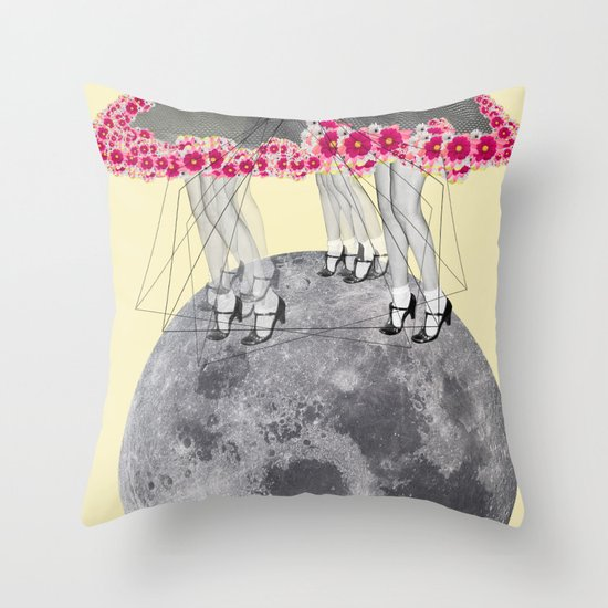 C-Over The Moon  Throw Pillow
