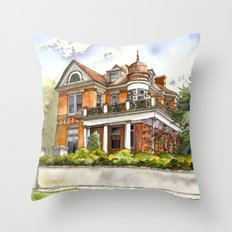 Stately Manor House Throw Pillow