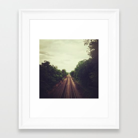 above the tracks Framed Art Print