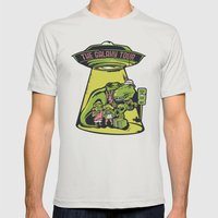 Galaxy Tour Mens Fitted Tee Silver SMALL