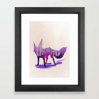 Twilight Fox Framed Art Print