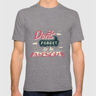 DFTBA Mens Fitted Tee Tri-Grey SMALL