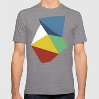 Abstraction Zoom Mens Fitted Tee Tri-Grey SMALL