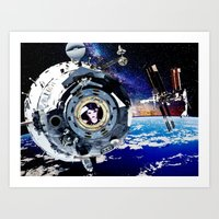 Objects In Space Art Print