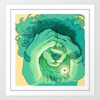 Lions Are Scared of Bugs Too Art Print