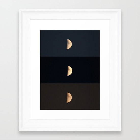 Waxing Crescent Framed Art Print