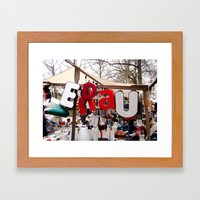 Berlin Letters Framed Art Print