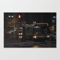 Detroit Bus Canvas Print