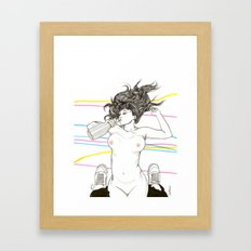 Let's Drink! Framed Art Print