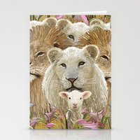 Lions led by a lamb Stationery Cards