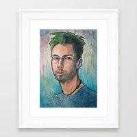 MCA (Adam Yauch) 90's Tr… Framed Art Print
