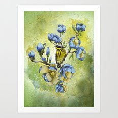 Magnolia Blues Art Print
