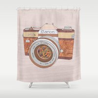 Wood Canon Shower Curtain