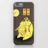iPhone & iPod Case featuring My Yellow Monster by pigboom el crapo