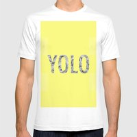 Yolo Mens Fitted Tee White SMALL