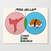 Venn Diagram for Ross Geller Canvas Print