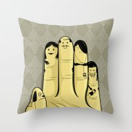 The Finger Family Throw Pillow