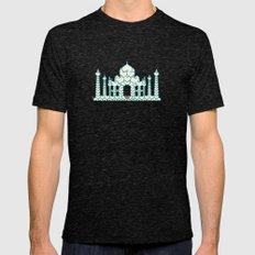 Taj Mahal is Love Mens Fitted Tee Tri-Black SMALL