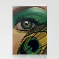 Through The Eye Of A Pea… Stationery Cards