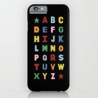 Alphabet On Black iPhone 6 Slim Case