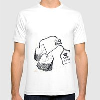 Tea Pod Mens Fitted Tee White SMALL