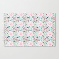 Shabby Chic Roses And Bl… Canvas Print