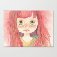 Blythe Doll Watercolor Canvas Print