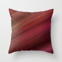 Fresh Rhubarb Throw Pillow