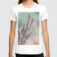 Lavender by the window Womens Fitted Tee White SMALL