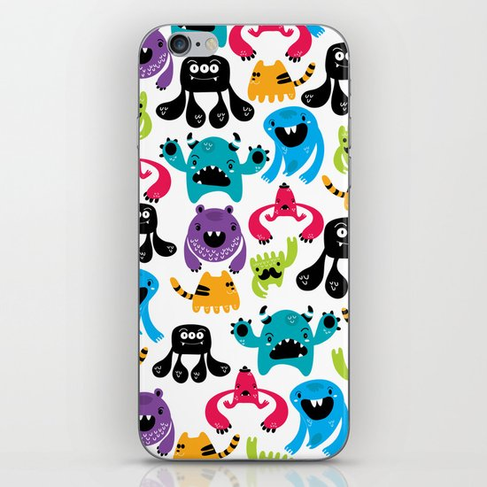 Monster pattern iPhone & iPod Skin