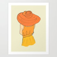 Orange Ombré Art Print