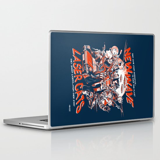 New Wave Laser Cats Laptop & iPad Skin