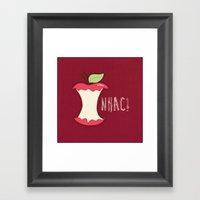 A apple a day... Framed Art Print