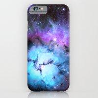 Blue Floral Nebula iPhone 6 Slim Case