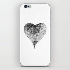 heart b&w iPhone & iPod Skin