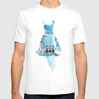 Filled With Blue Mens Fitted Tee White SMALL