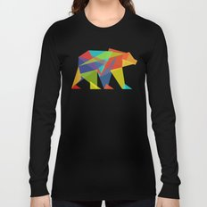 Fractal Geometric bear Long Sleeve T-shirt