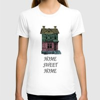 Home Sweet Home Quotes Womens Fitted Tee White SMALL