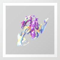 ACRYLIC V Art Print