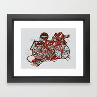 FIX TRIP ~ GREY Framed Art Print